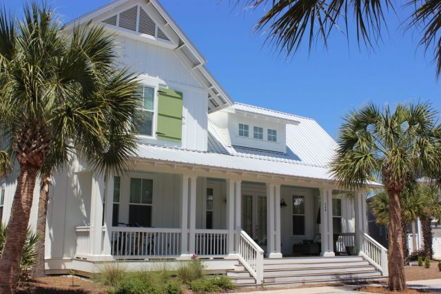 We rented in the Seacrest Beach community, about a fast 5 minute bike ride from Rosemary Beach (not this exact house). Here you will find quiet streets to ride your bike.   It is tucked away from the center of Rosemary beach and just a 5 minute bike path ride away from shops, candy stores and restaurants-and the beach front! You will find mostly VRBO s here offering rows and rows of beach houses in the urban beach house style.  I couldn t get enough.If you stay here you have access to Seacrest Beach.  The beaches in Rosemary Beach ARE gated, you need the code or to be staying there to have access.