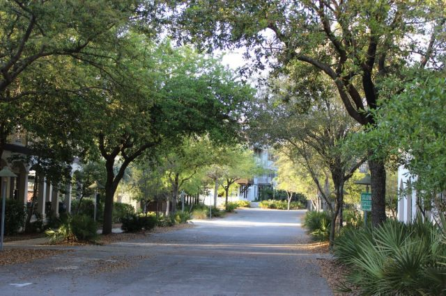 We first rode around to Rosemary Beach  which is lush and full of trees and gorgeous homes and architecture.